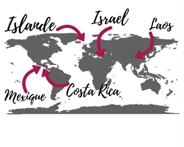carte du monde top5